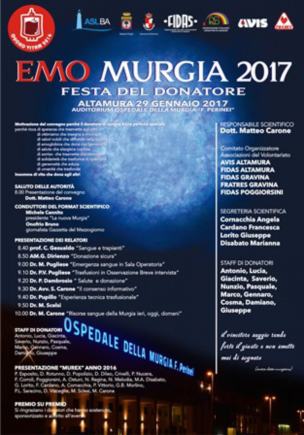 EMOMURGIA 2017 - AVIS ALTAMURA