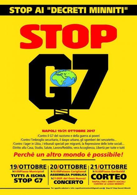 Napoli 19-21 ottobre: No al G7 del razzismo, no alle leggi Minniti
