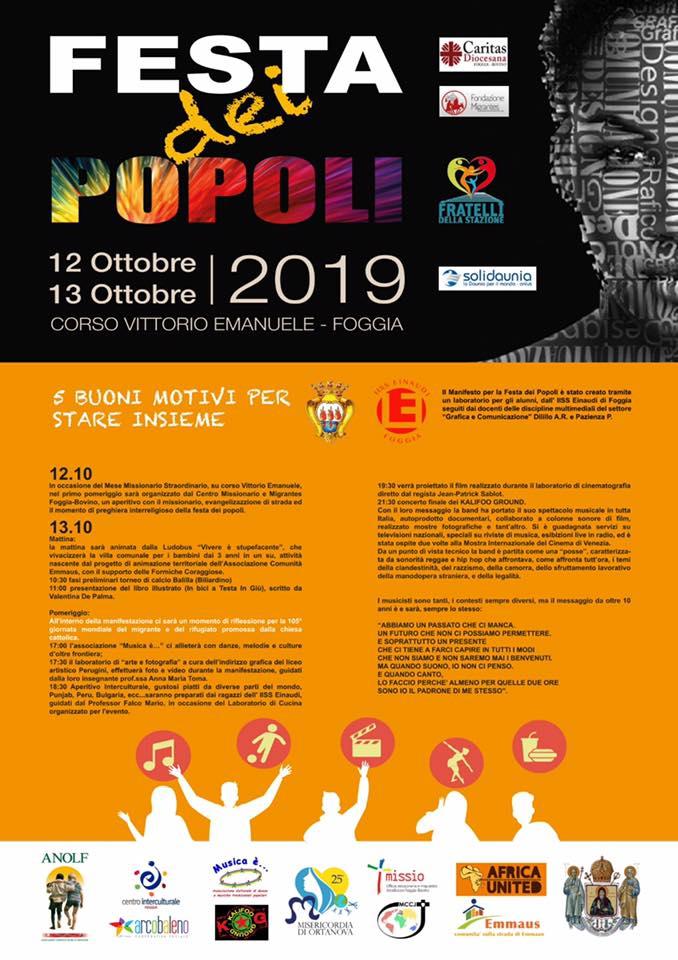 Festa dei Popoli 13 ottobre 2019