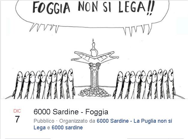 6000 Sardine a Foggia il 7 dicembre