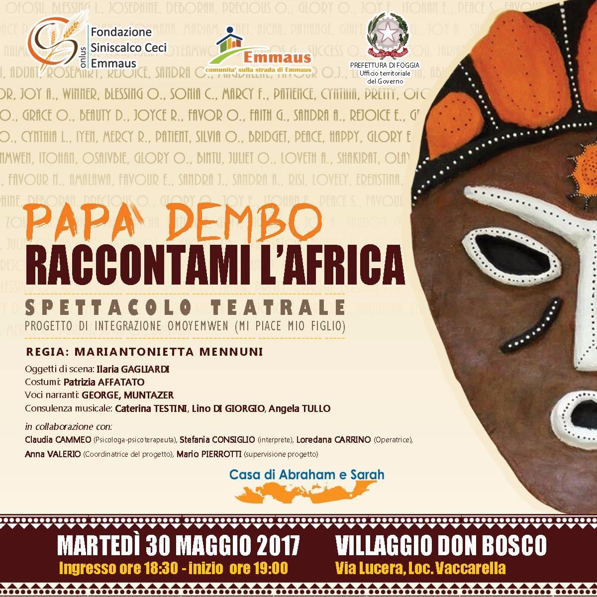 Papà Dembo raccontami l'Africa
